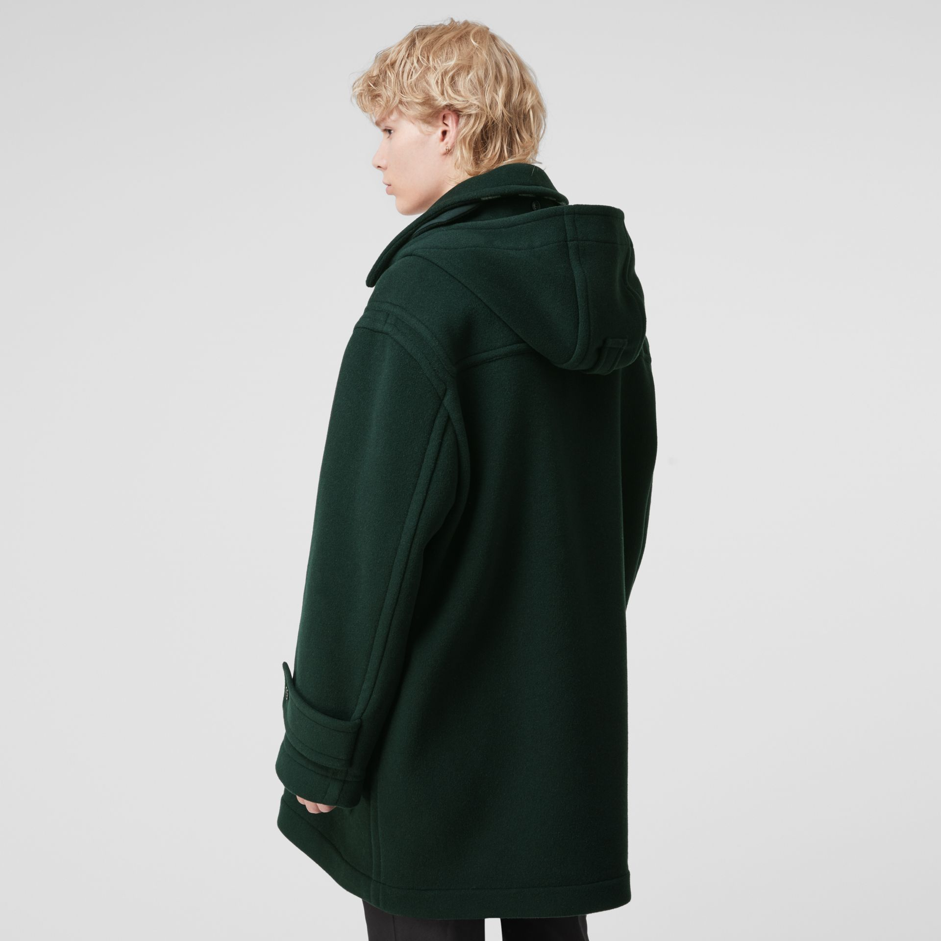 Gosha x Burberry Oversized Duffle Coat in Dark Forest Green | Burberry United Kingdom - gallery image 5