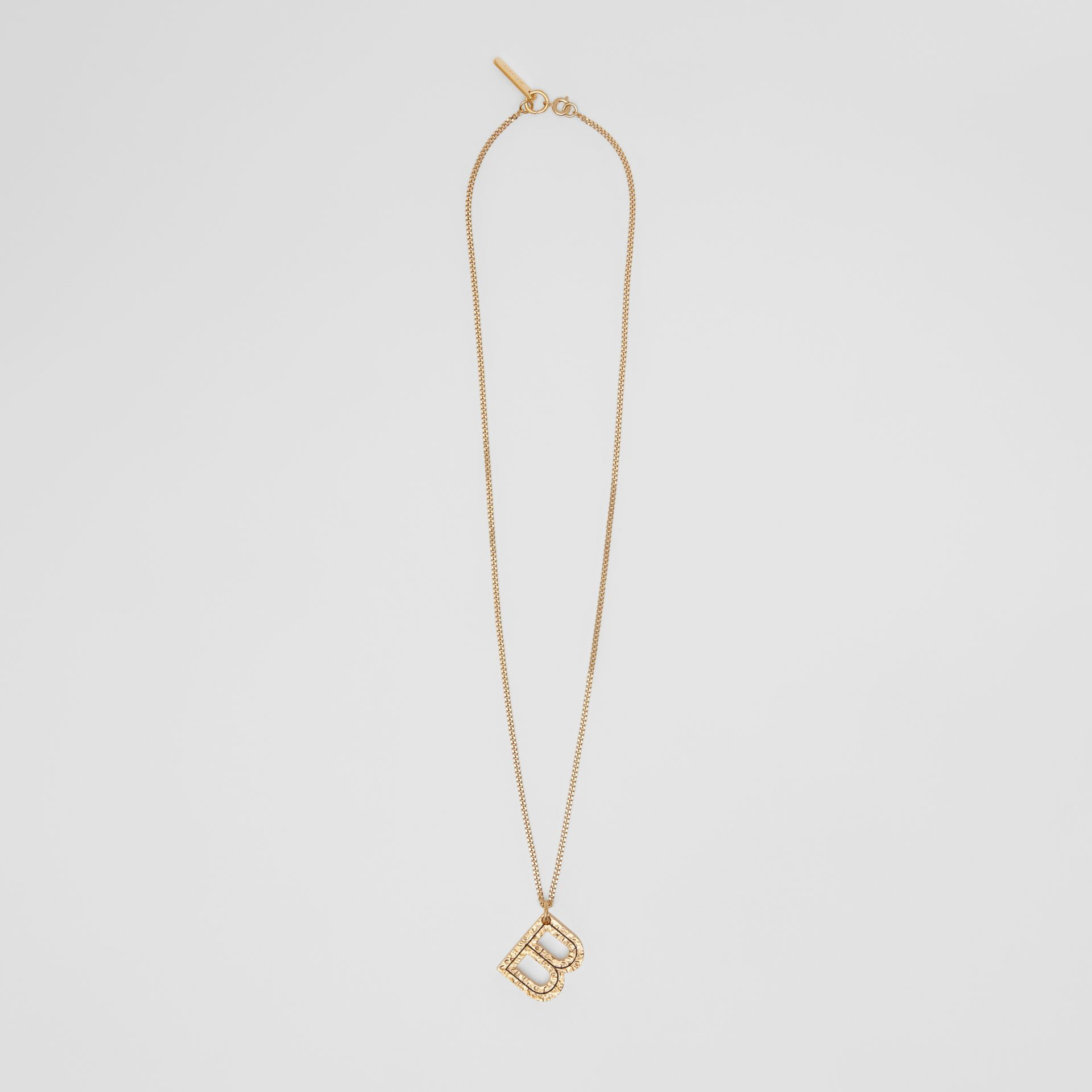 'B' Alphabet Charm Gold-plated Necklace in Light - Women | Burberry - gallery image 0