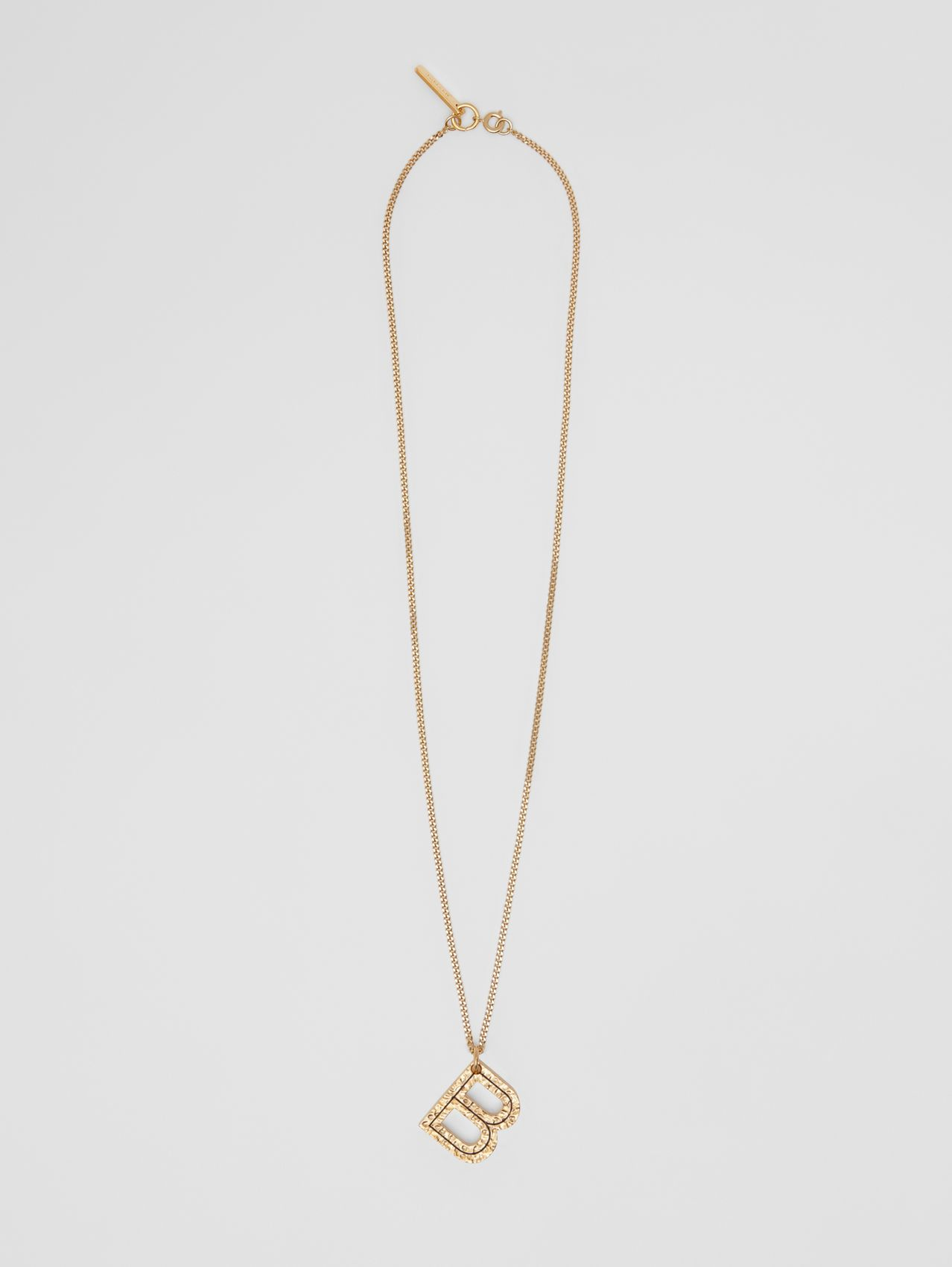 'B' Alphabet Charm Gold-plated Necklace in Light