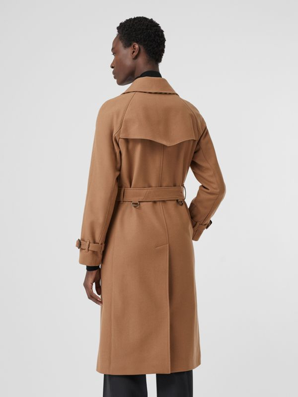 Herringbone Wool Cashmere Blend Trench Coat in Camel - Women | Burberry United Kingdom - cell image 2