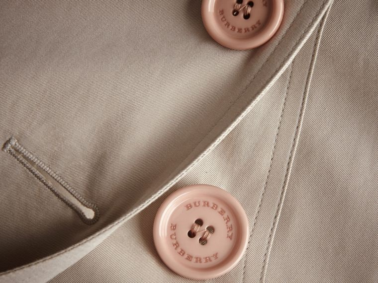 Resin Button Cotton Gabardine Trench Coat - cell image 1