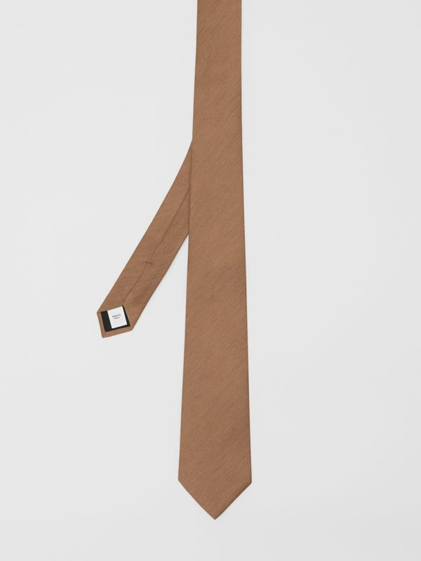 Classic Cut Silk Tie in Warm Camel - Men | Burberry - cell image 3