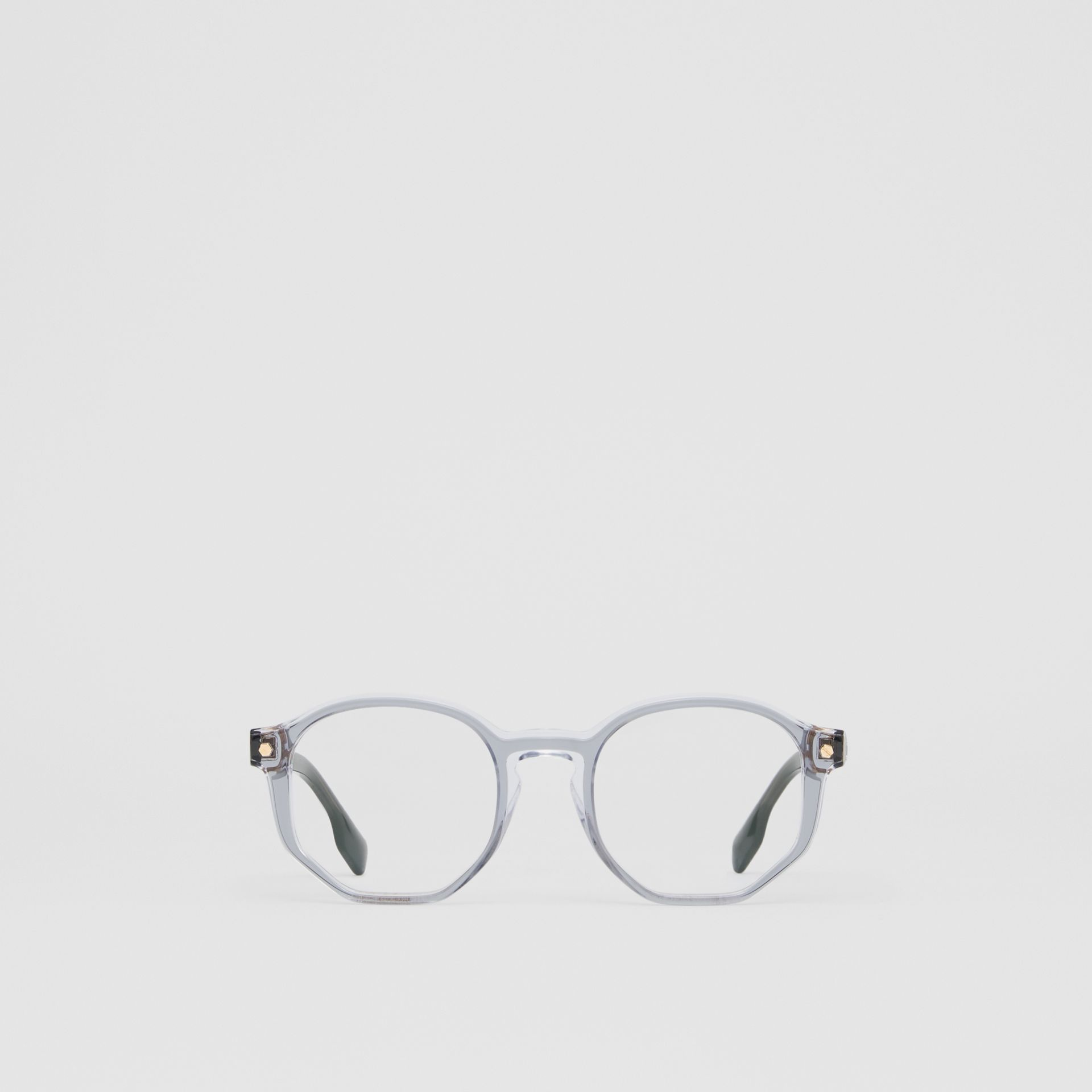 Geometric Optical Frames in Grey - Women | Burberry - gallery image 0