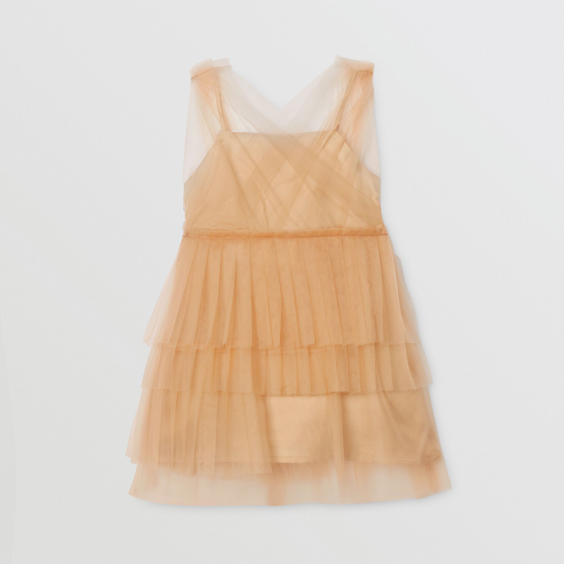Tulle Tiered Dress in Oyster Beige - Children | Burberry - gallery image 3