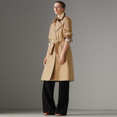 Westminster Heritage Long Belted Trench Coat in Neutrals