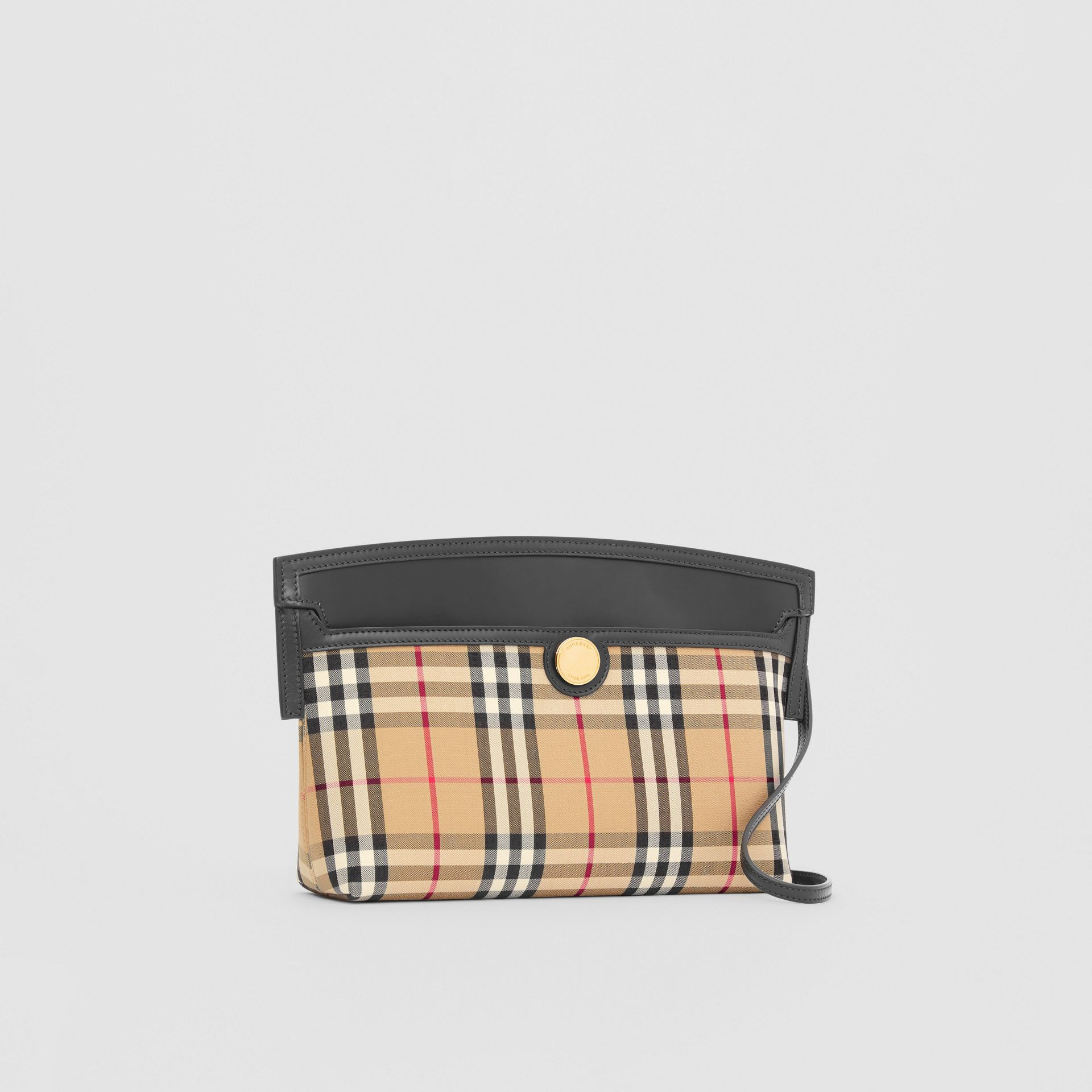 Vintage Check and Leather Society Clutch in Archive Beige - Women | Burberry - gallery image 6