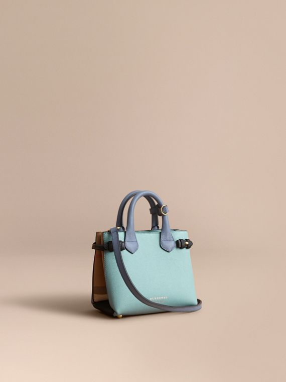 The Baby Banner en cuir bicolore et coton House check - Femme | Burberry