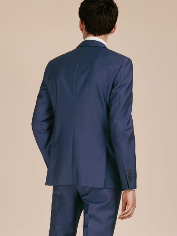 Dark canvas blue Slim Fit Wool Mohair Part-canvas Jacket - cell image 2