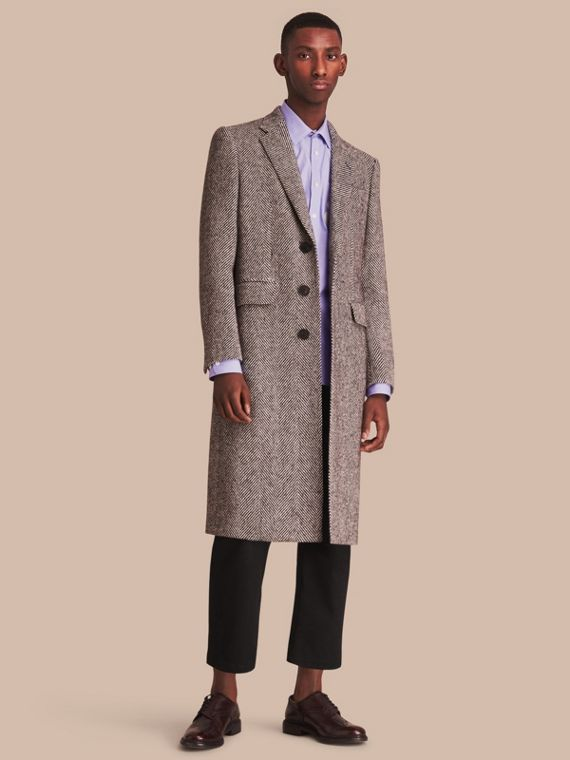 Donegal Herringbone Wool Topcoat - Men | Burberry Australia