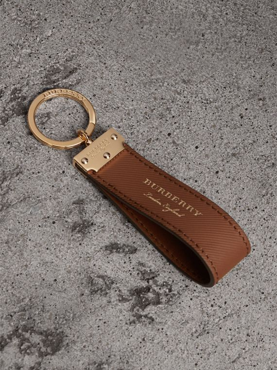 Trench Leather Key Ring in Tan