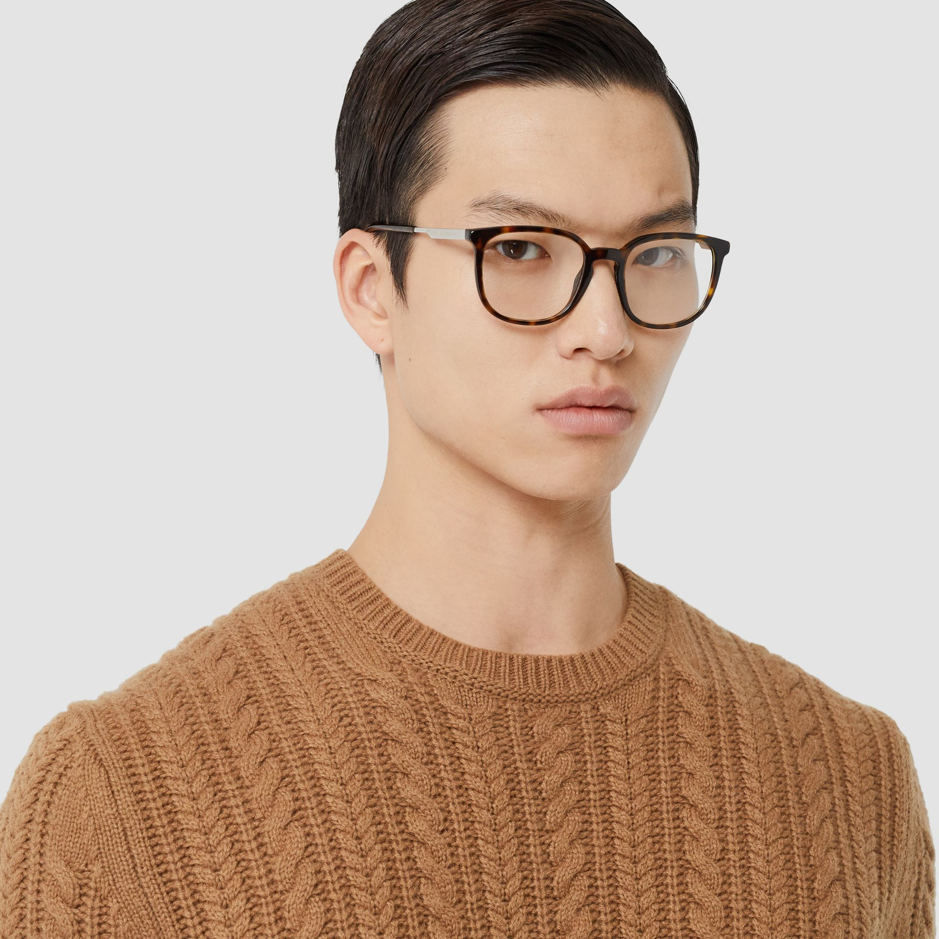Cable Knit Cashmere Sweater in Maple - Men | Burberry - gallery image 1