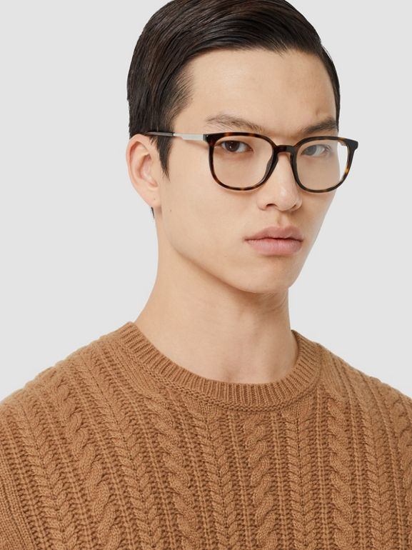 Cable Knit Cashmere Sweater in Maple - Men | Burberry - cell image 1