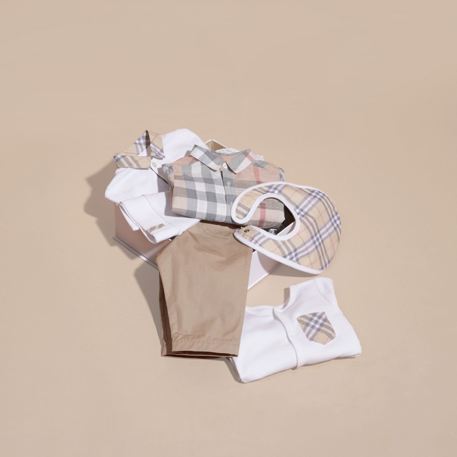 Cotton Six-piece Baby Gift Set in White - Children | Burberry - gallery image 5
