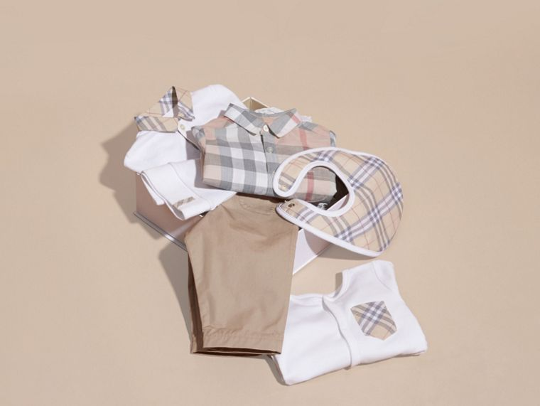 Cotton Six-piece Baby Gift Set in White - Children | Burberry - cell image 4