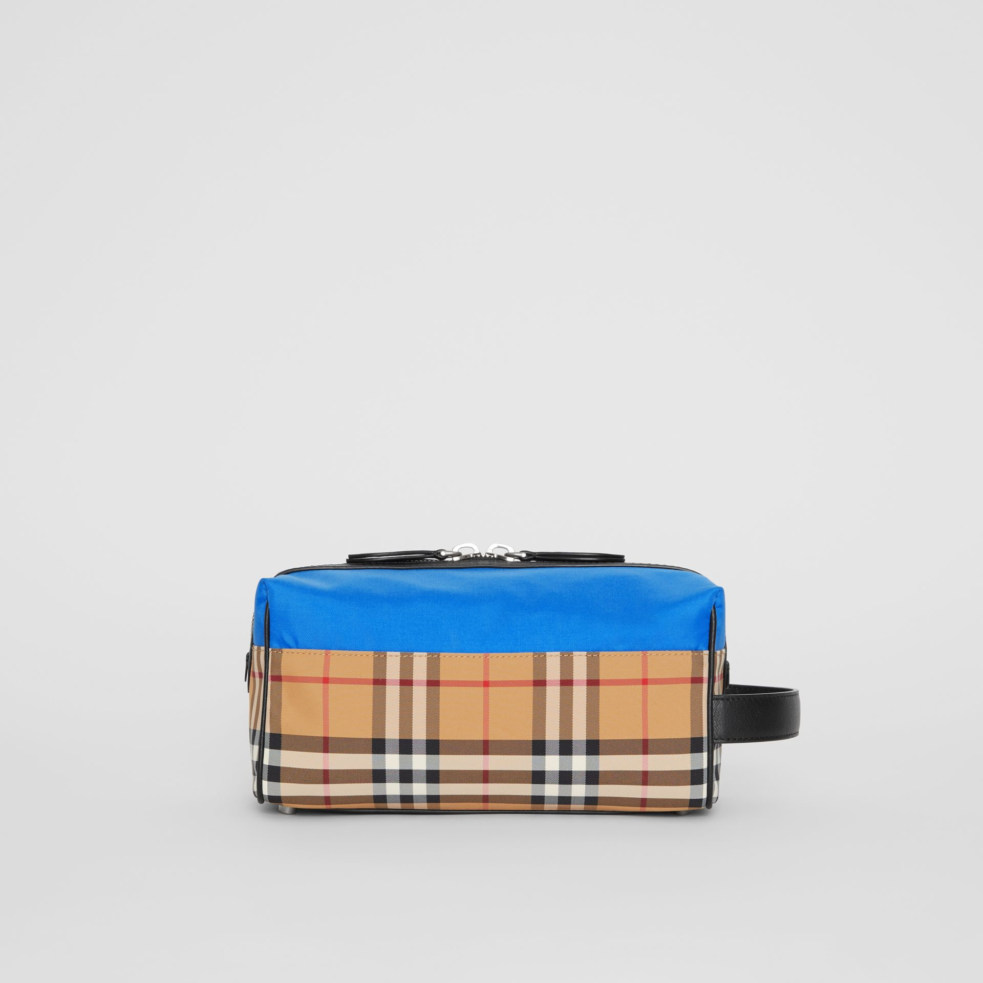 Vintage Check and Colour Block Pouch in Blue/vintage | Burberry - gallery image 3