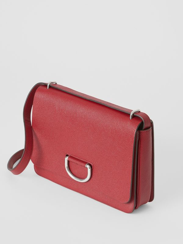 The Medium Leather D-ring Bag in Crimson - Women | Burberry Singapore - cell image 3