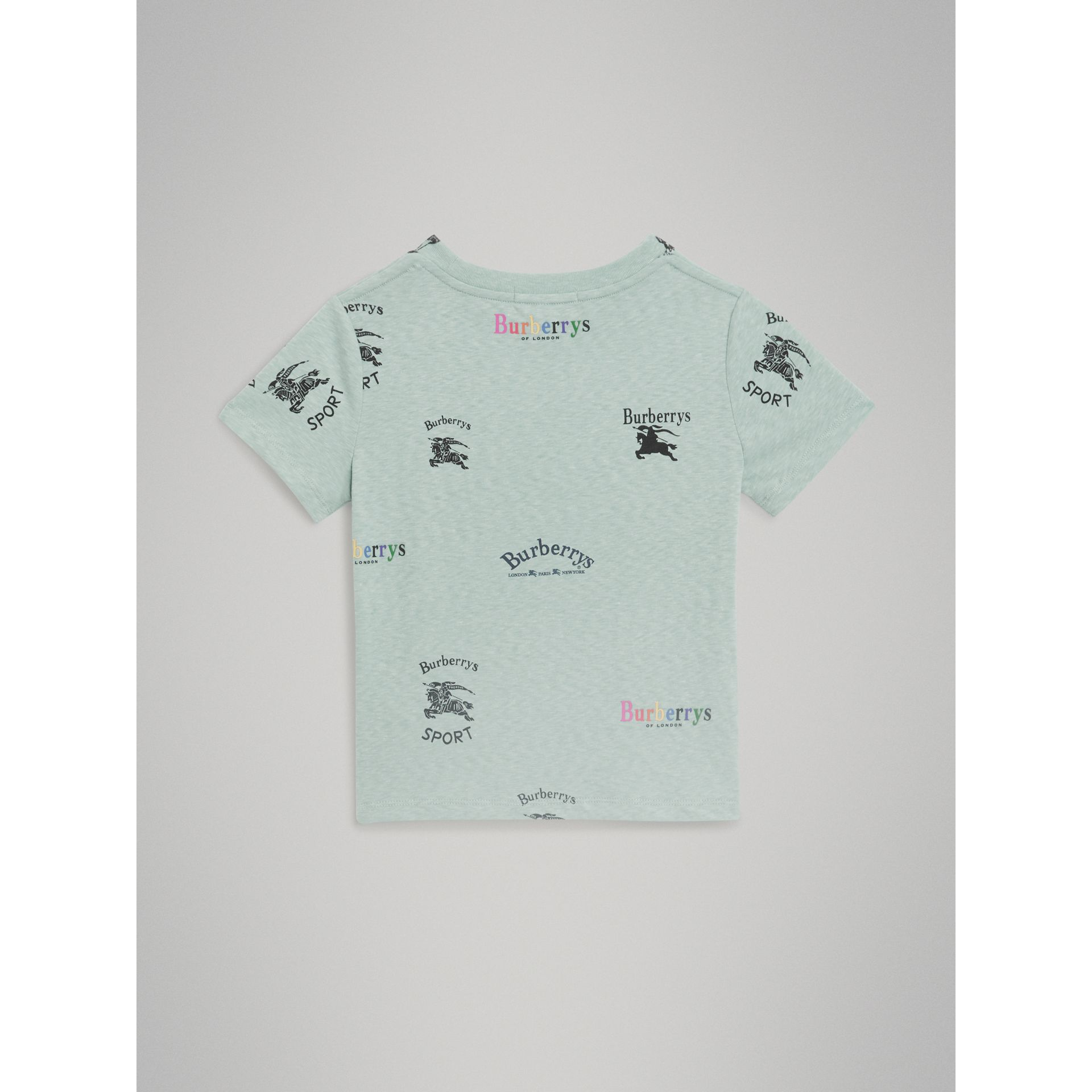 Archive Logo Print Jersey T-shirt in Mint - Children | Burberry - gallery image 3