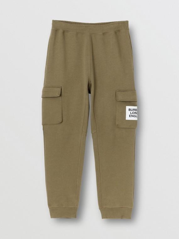 Pantalon de survêtement en coton avec logo (Mousse Foncée)