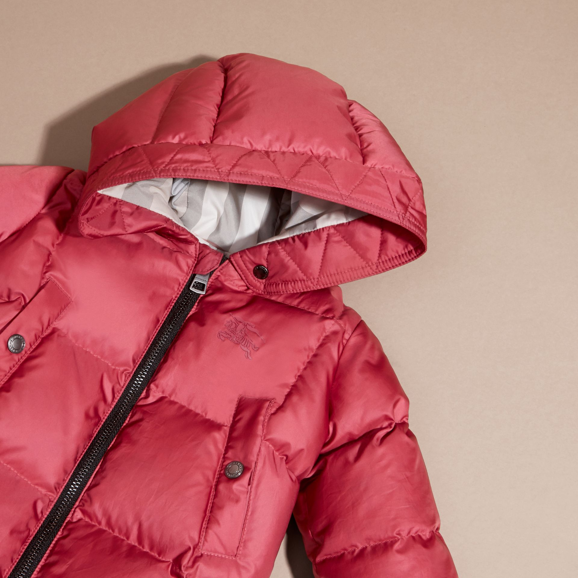 Down-filled Puffer Suit in Peony Rose - gallery image 2