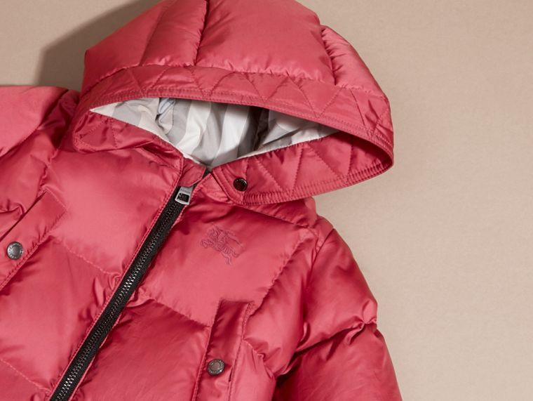 Down-filled Puffer Suit in Peony Rose - cell image 1