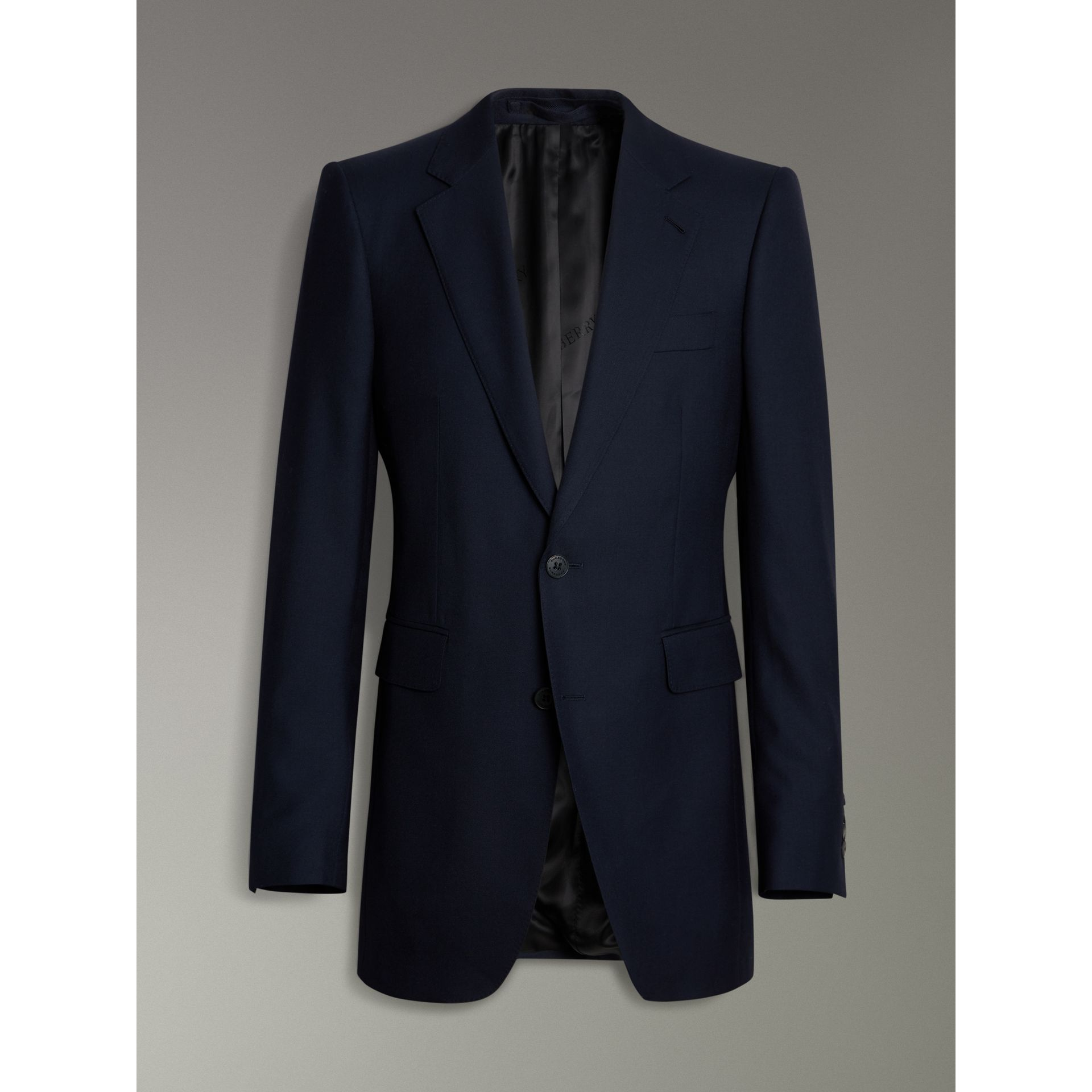 Slim Fit Wool Twill Suit in Navy - Men | Burberry - gallery image 3