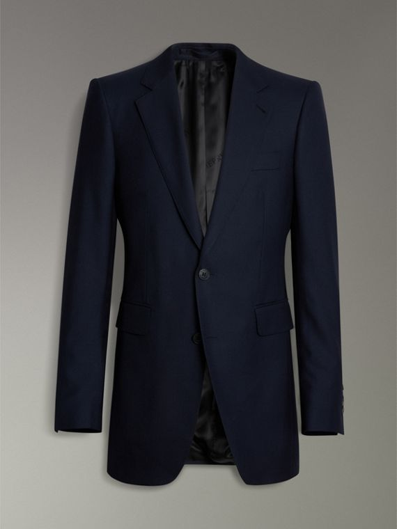 Slim Fit Wool Twill Suit in Navy - Men | Burberry - cell image 3