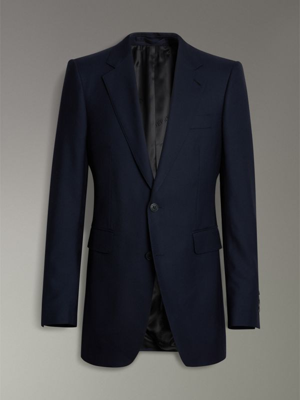 Slim Fit Wool Twill Suit in Navy - Men | Burberry Australia - cell image 3