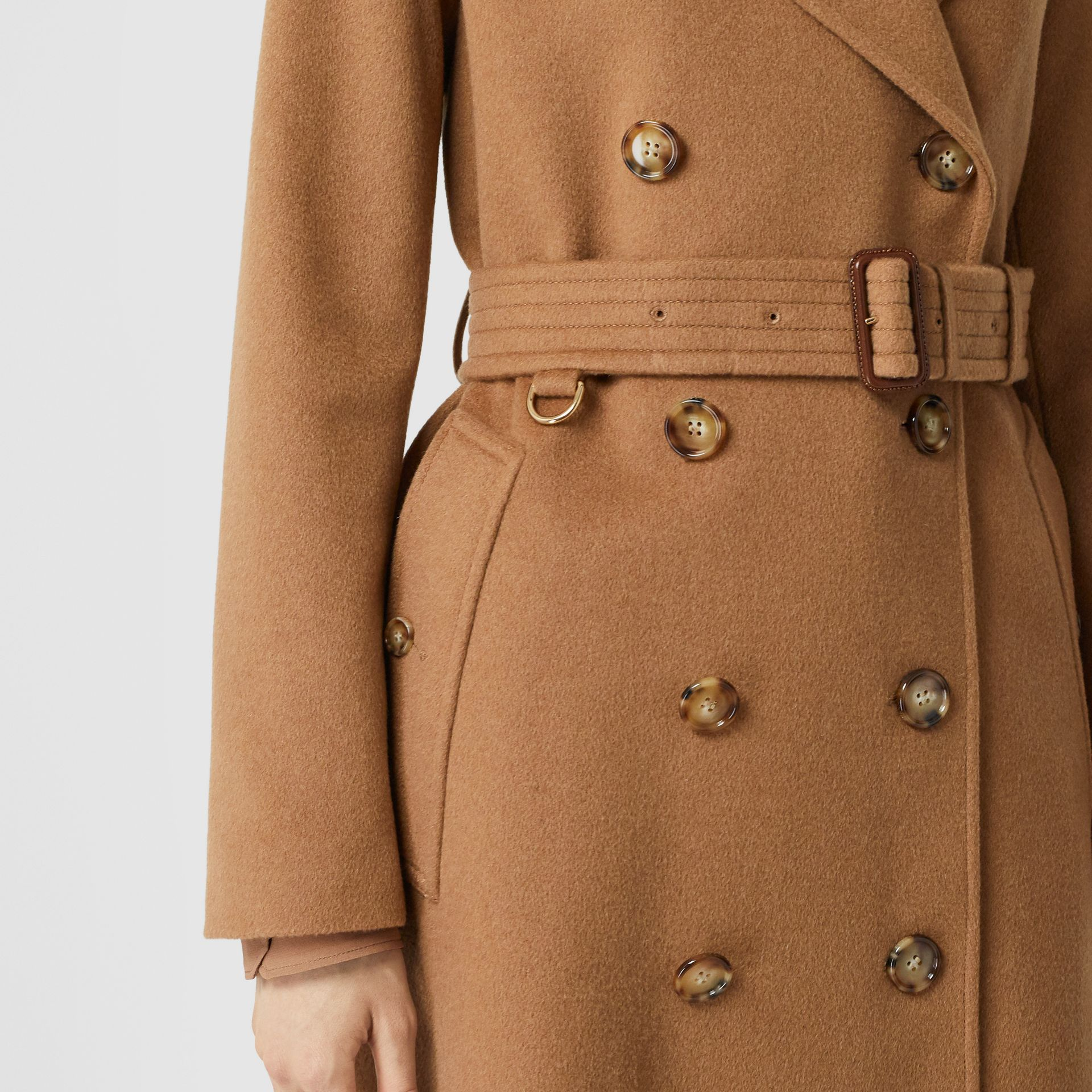Cashmere Trench Coat in Bronze - Women | Burberry United Kingdom - gallery image 5