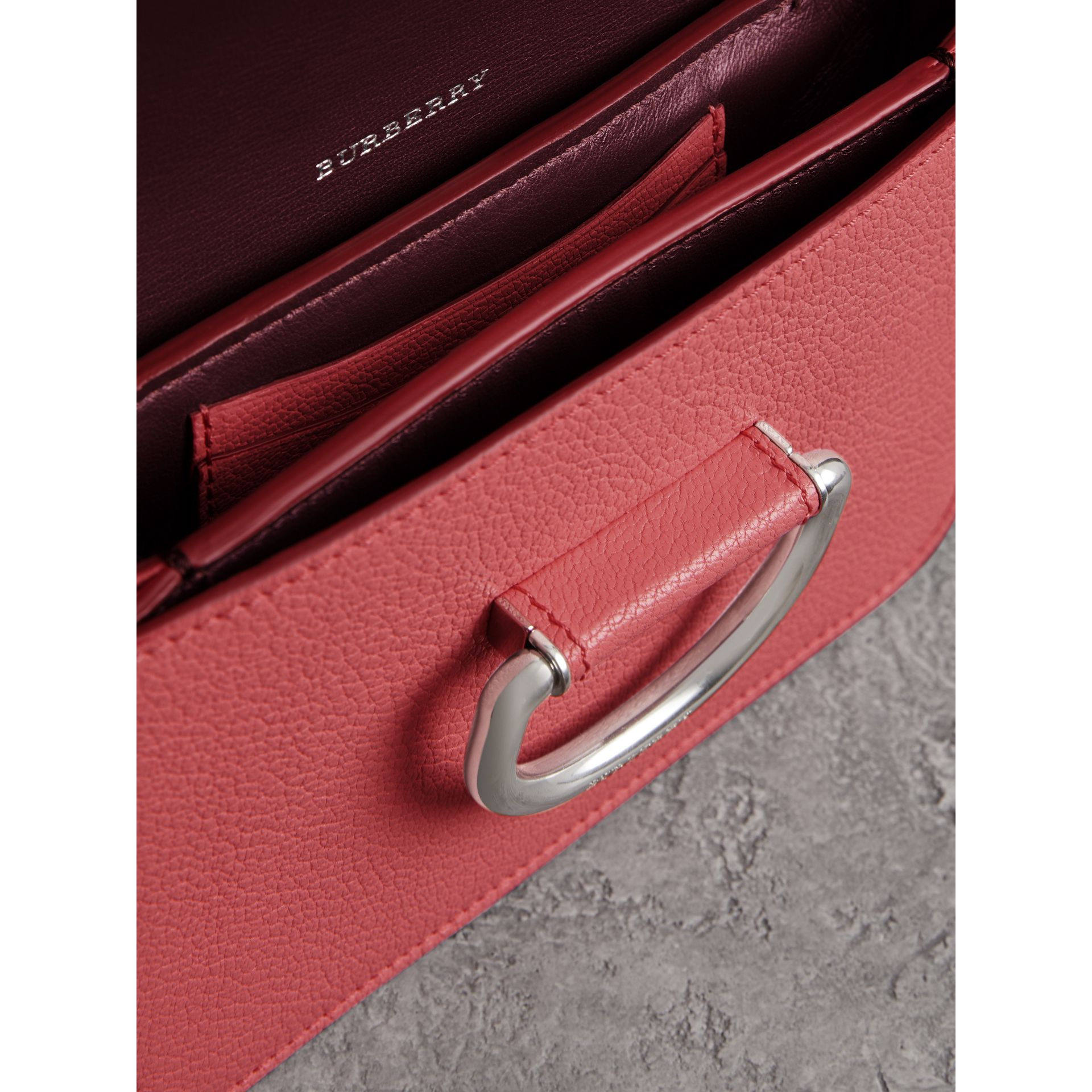 The Mini Leather D-Ring Bag in Bright Coral Pink - Women | Burberry - gallery image 5