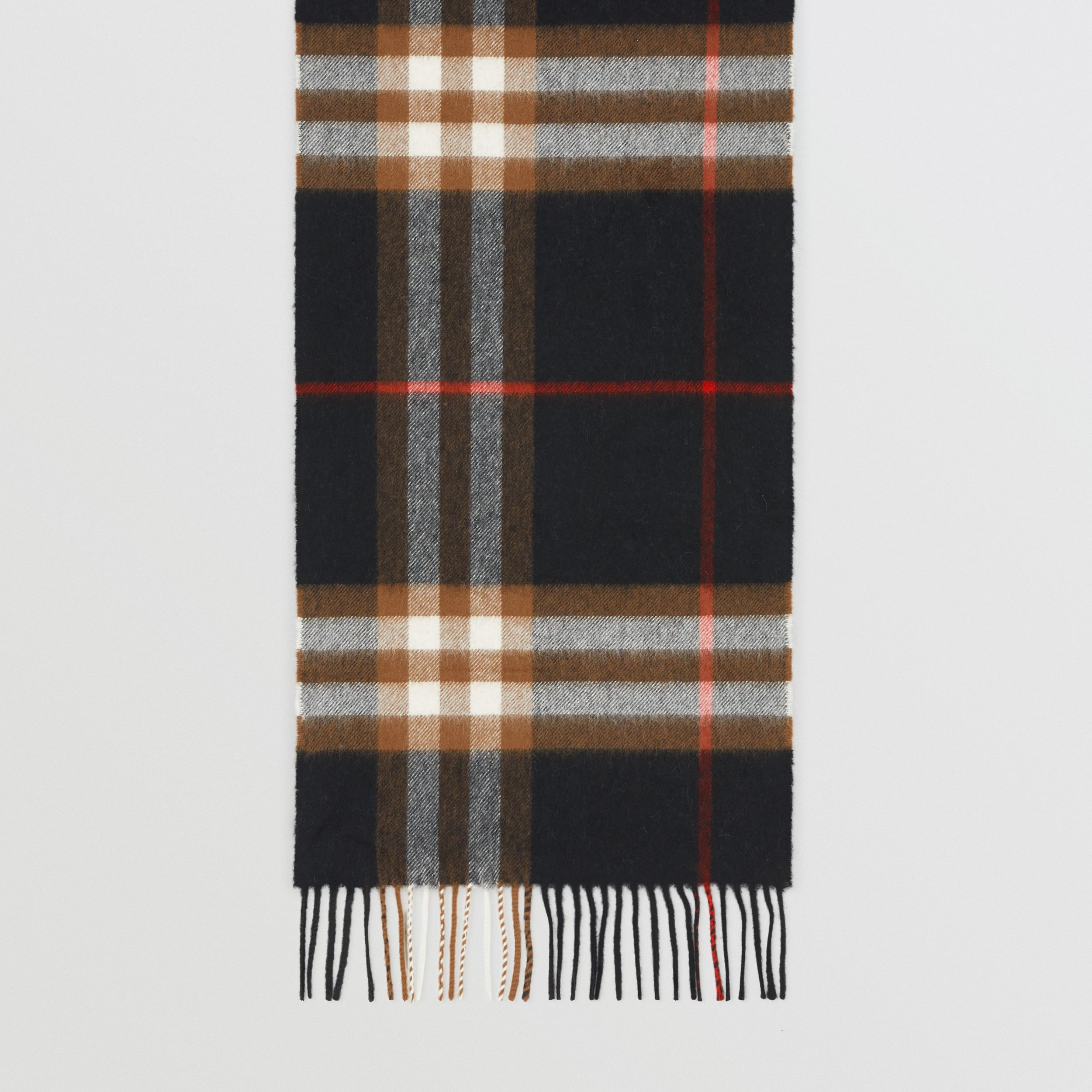 The Classic Check Cashmere Scarf in Black/brown | Burberry Hong Kong S.A.R. - 4