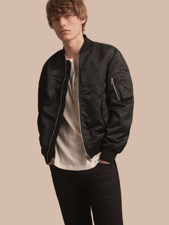 Technical Bomber Jacket Black