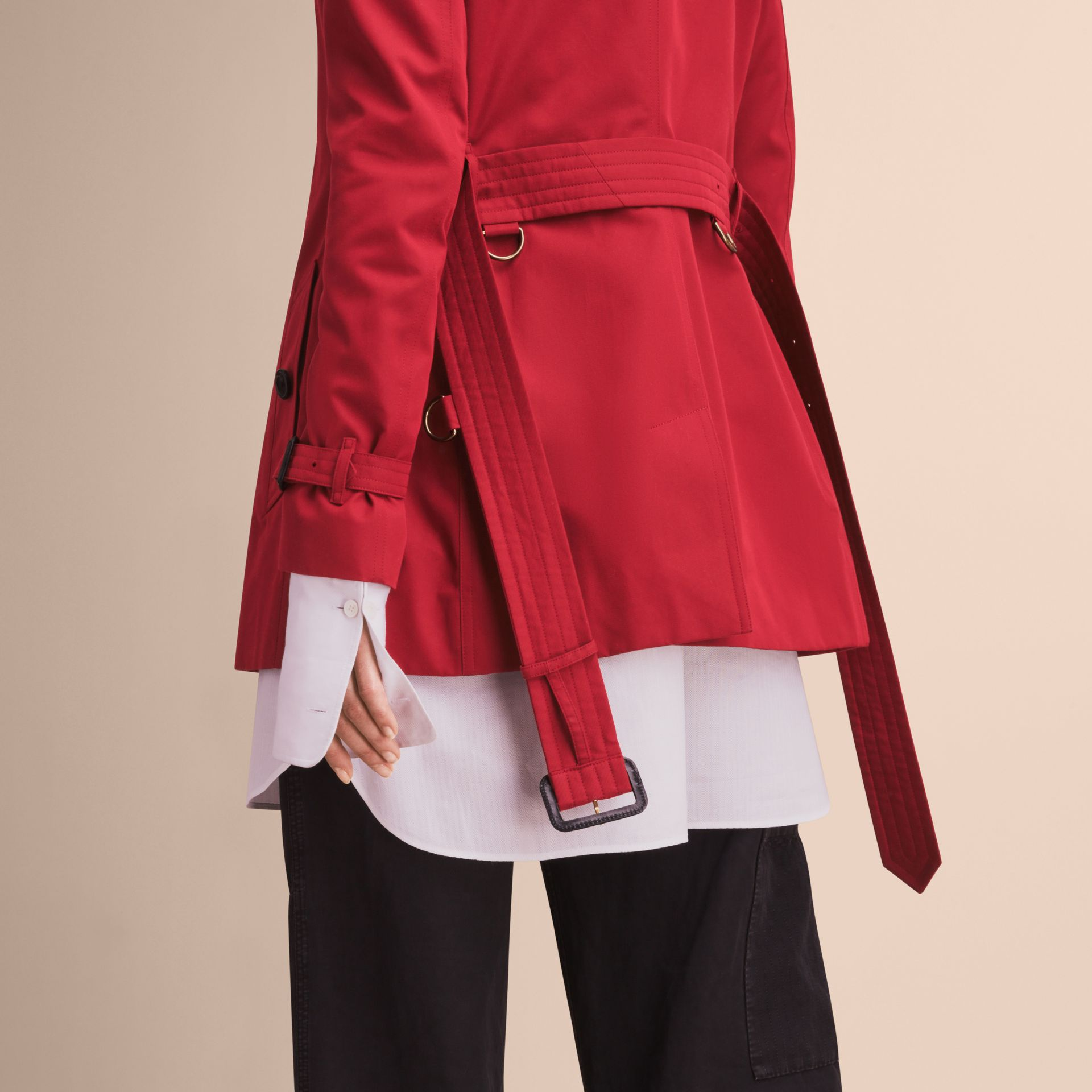 Parade red The Kensington - Trench coat Heritage curto Parade Red - galeria de imagens 6