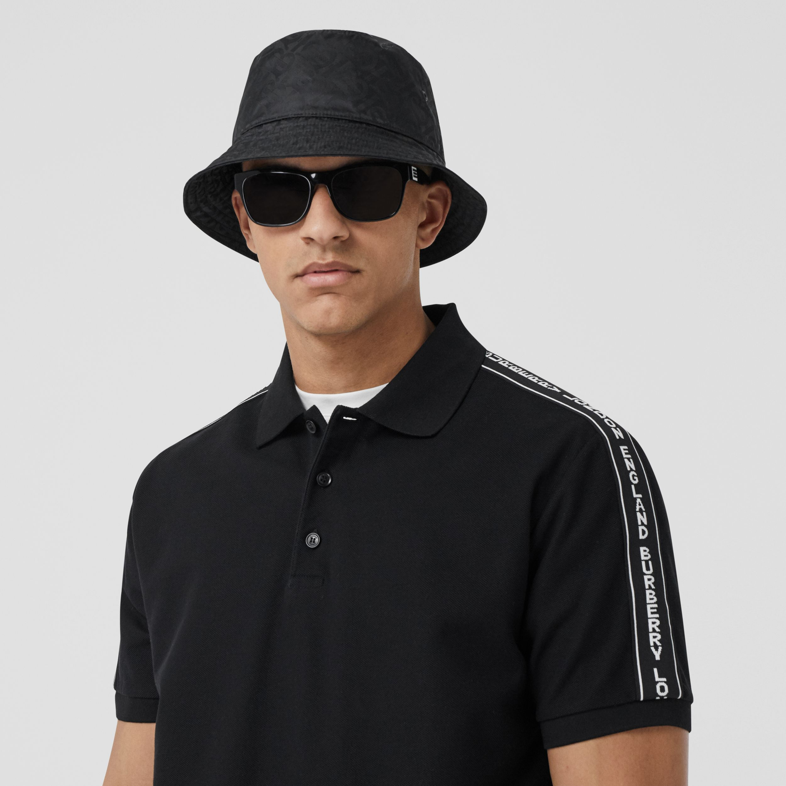 Monogram Jacquard Bucket Hat in Black | Burberry United States - 3