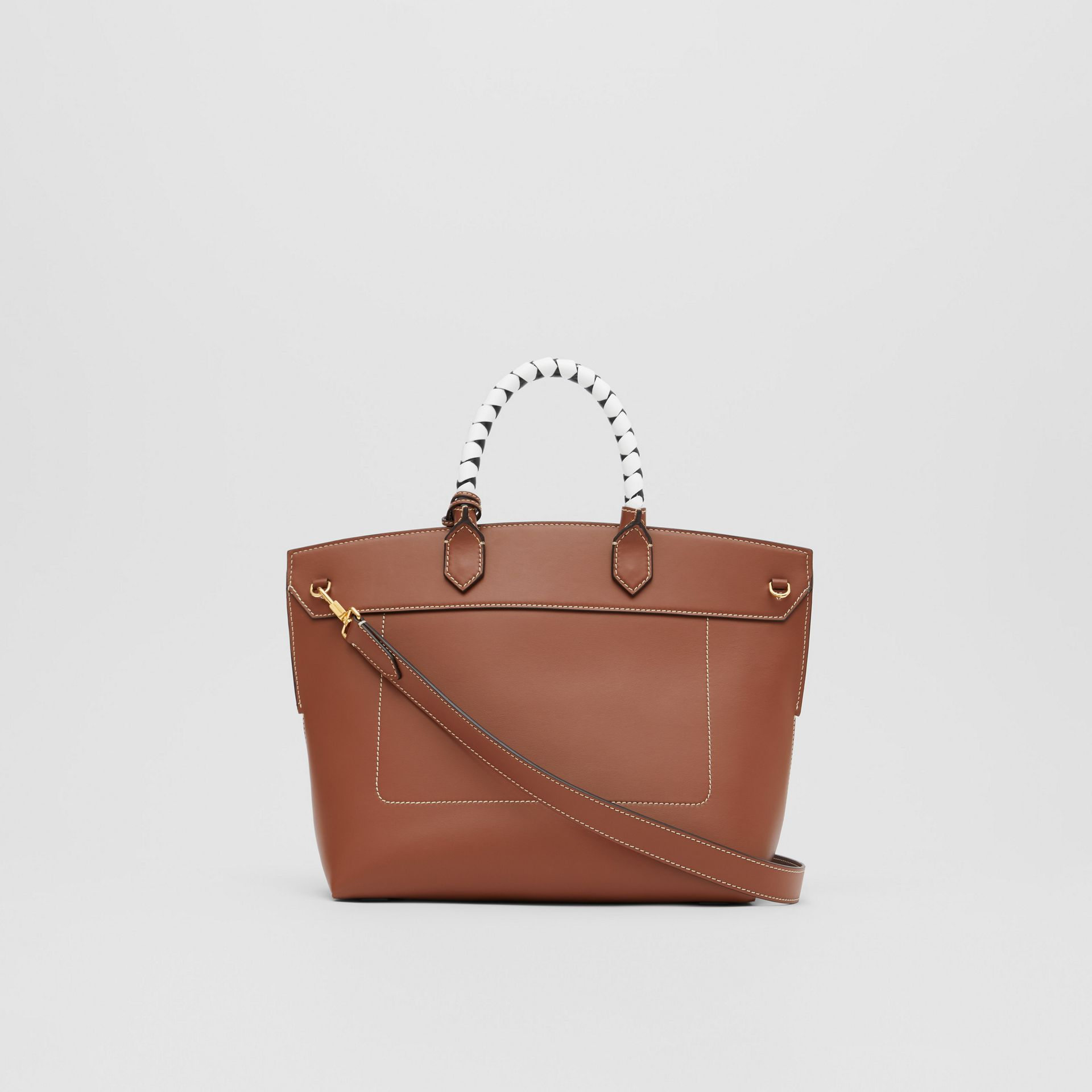 Small Leather Society Top Handle Bag in Tan - Women | Burberry - gallery image 7