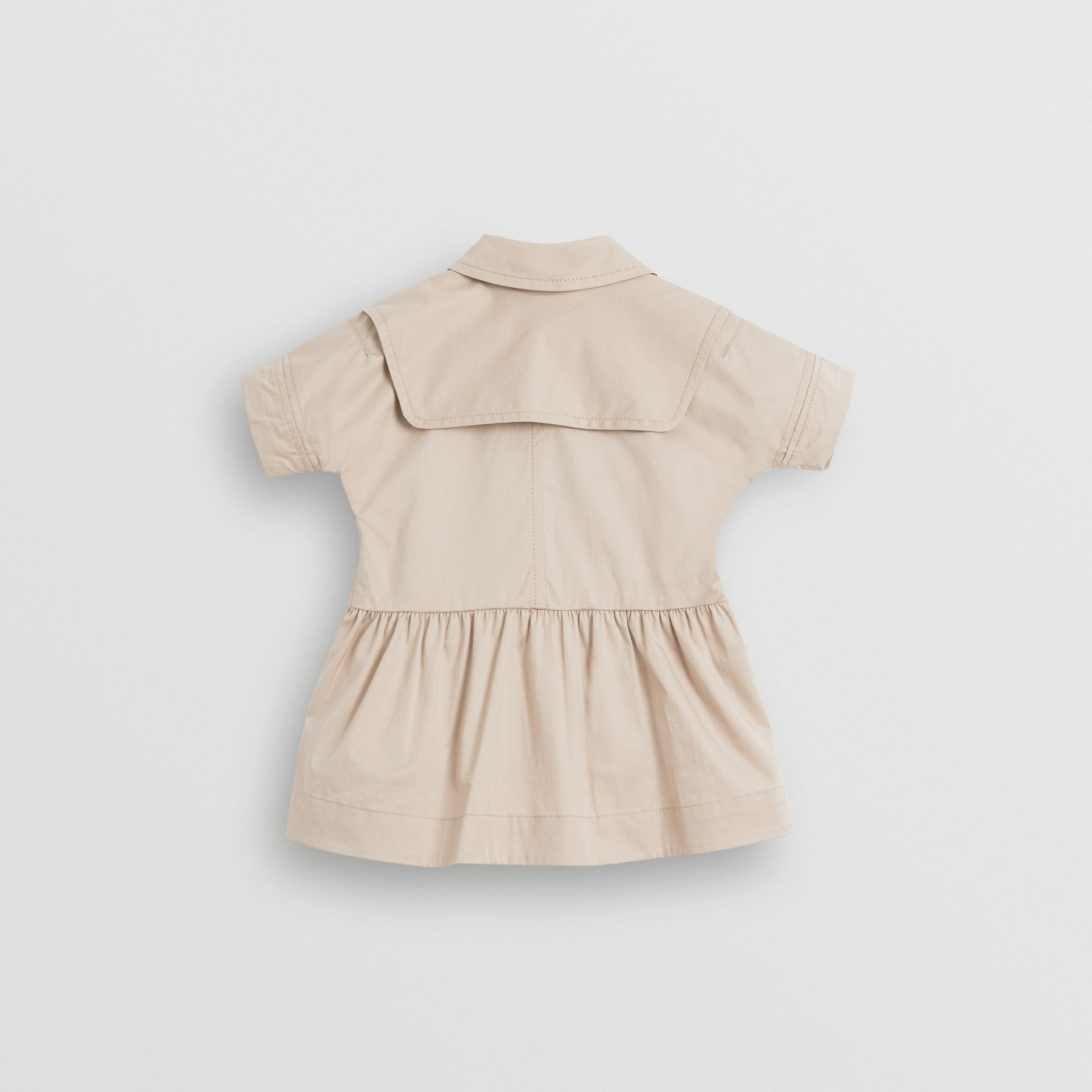 Stretch Cotton Trench Dress in Honey - Children | Burberry United Kingdom - gallery image 3