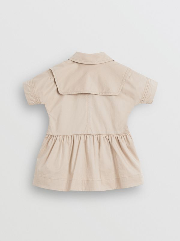 Stretch Cotton Trench Dress in Honey - Children | Burberry United Kingdom - cell image 3