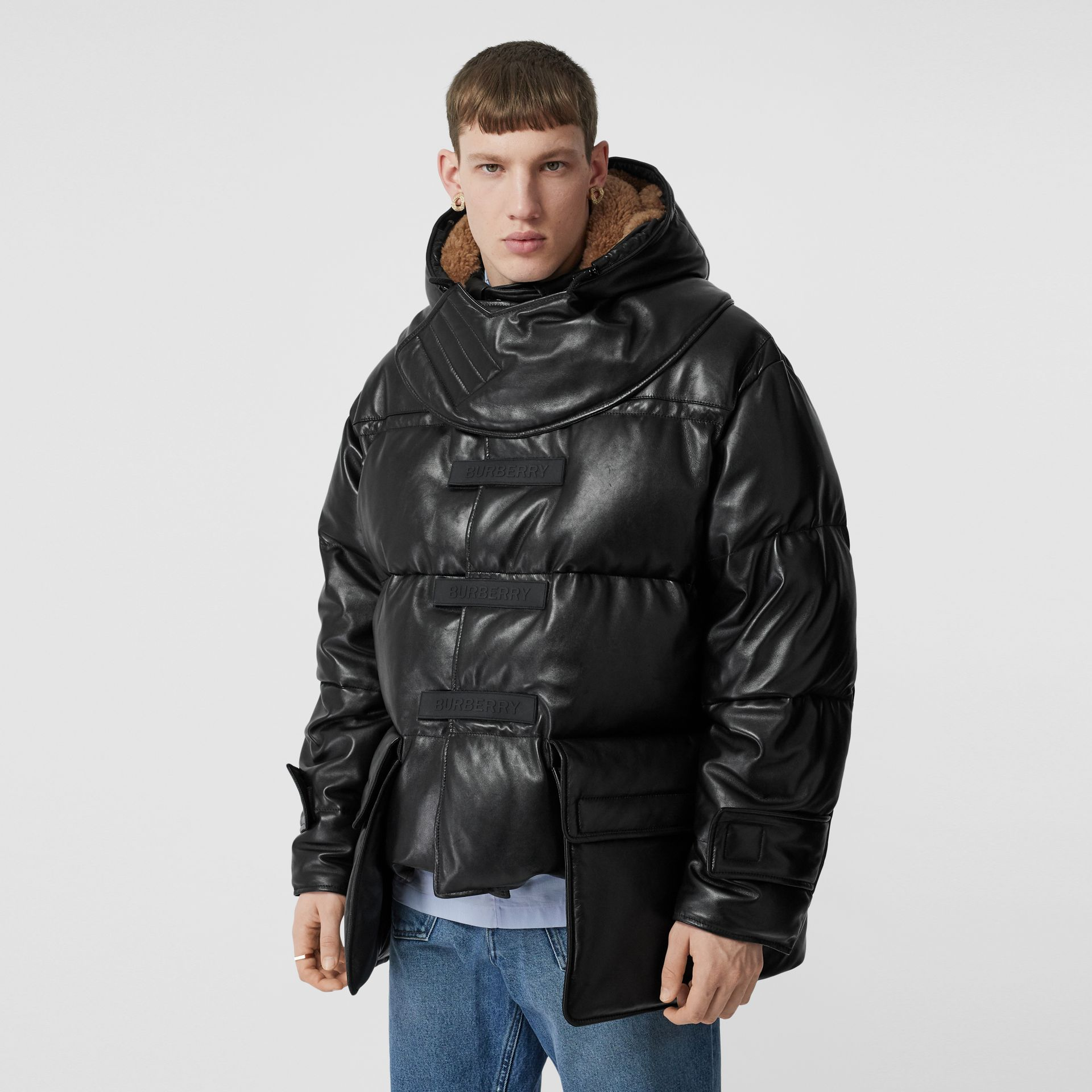 Plonge Lambskin Puffer Jacket in Black - Men | Burberry - gallery image 5