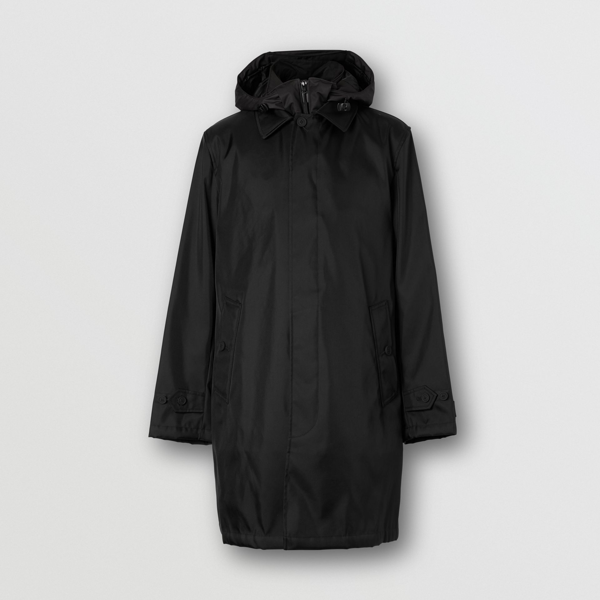 Nylon Car Coat with Detachable Hooded Warmer in Black - Men | Burberry United Kingdom - gallery image 3
