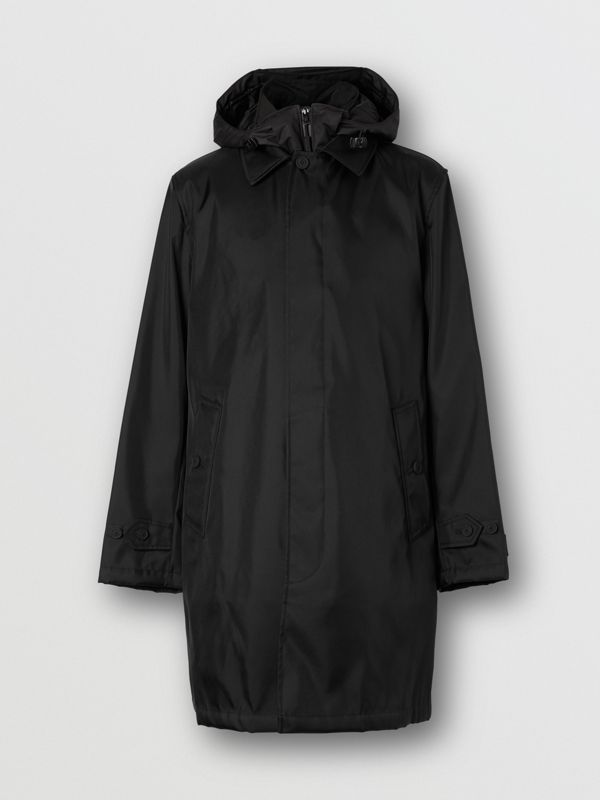 Nylon Car Coat with Detachable Hooded Warmer in Black - Men | Burberry - cell image 3