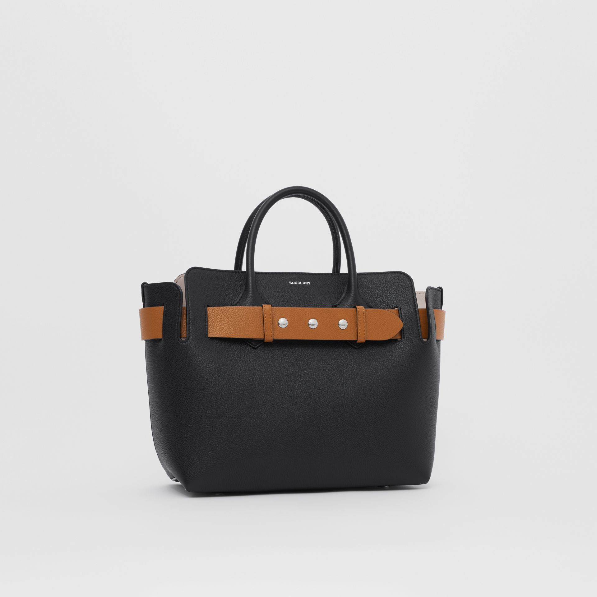 The Small Leather Triple Stud Belt Bag in Black/cognac/chalk Pink - Women | Burberry United Kingdom - gallery image 6