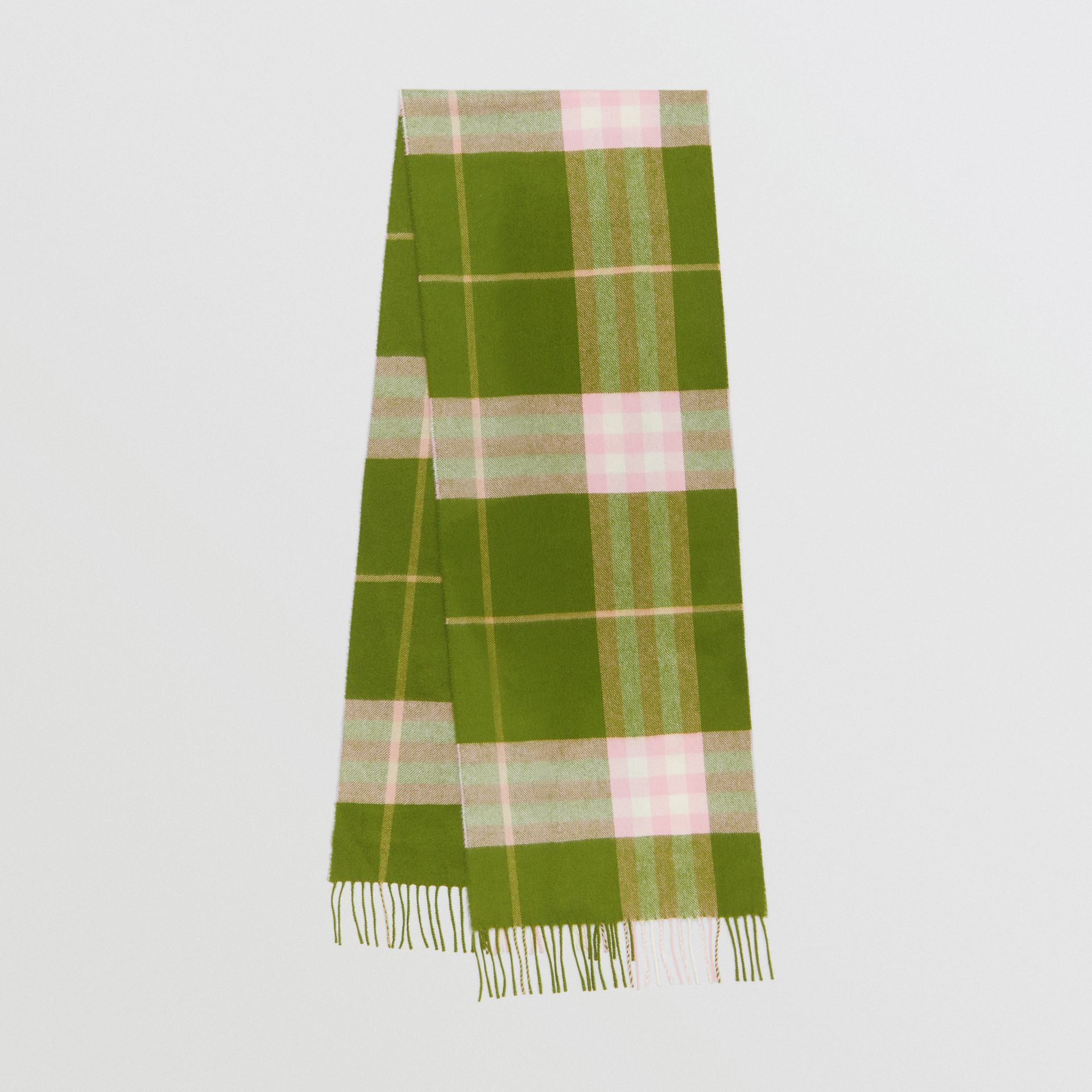 The Classic Check Cashmere Scarf in Cedar Green | Burberry - gallery image 0