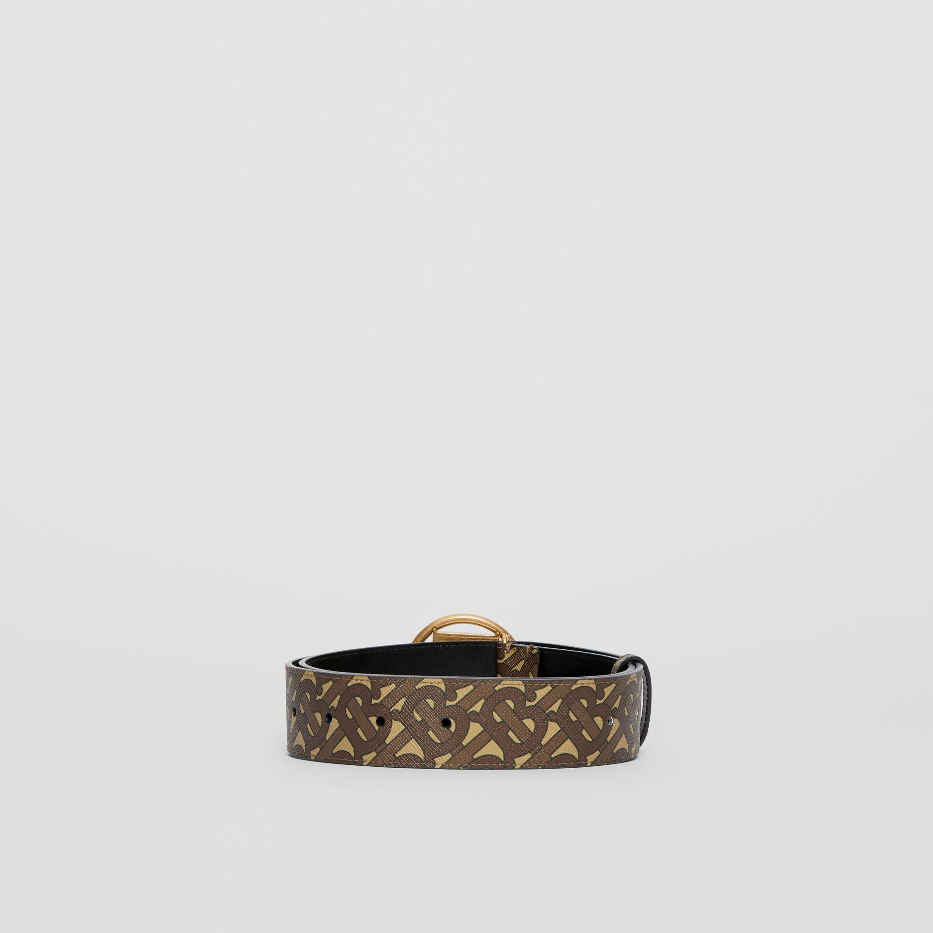 Monogram Motif Monogram Print E-canvas Belt in Bridle Brown - Women | Burberry United Kingdom - gallery image 4