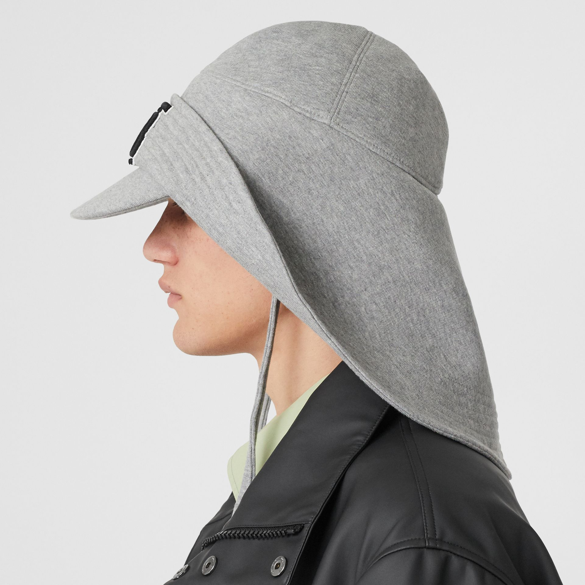 Monogram Motif Rain Hat in Light Grey Melange - Men | Burberry - gallery image 3