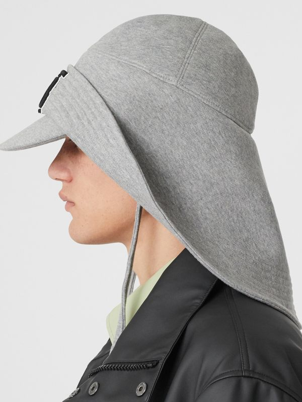 Monogram Motif Rain Hat in Light Grey Melange - Men | Burberry - cell image 3
