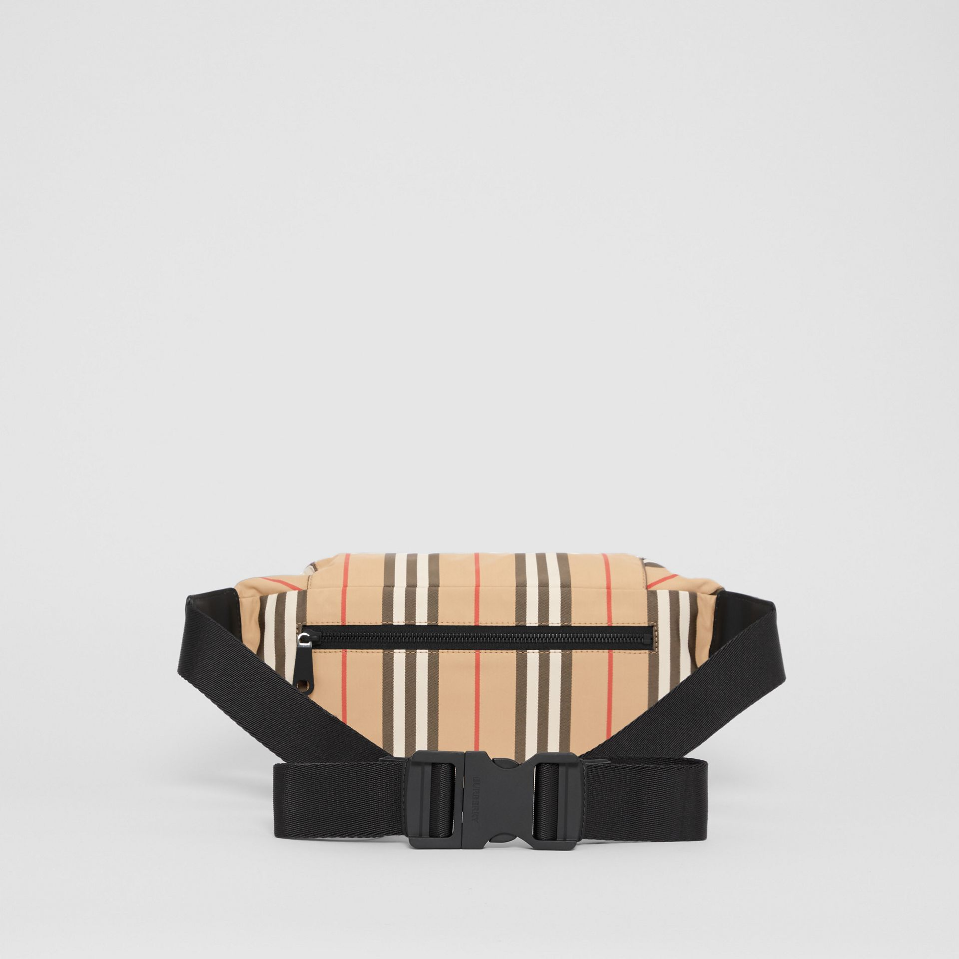 Medium Vintage Check and Icon Stripe Bum Bag in Archive Beige - Women | Burberry United Kingdom - gallery image 7