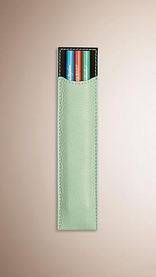 Grainy Leather Pencil Sleeve