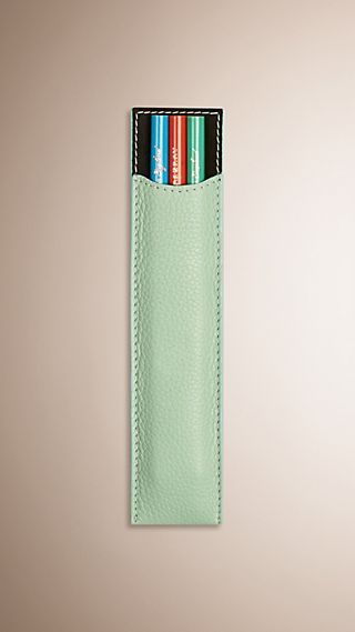 Grainy Leather Pencil Sleeve