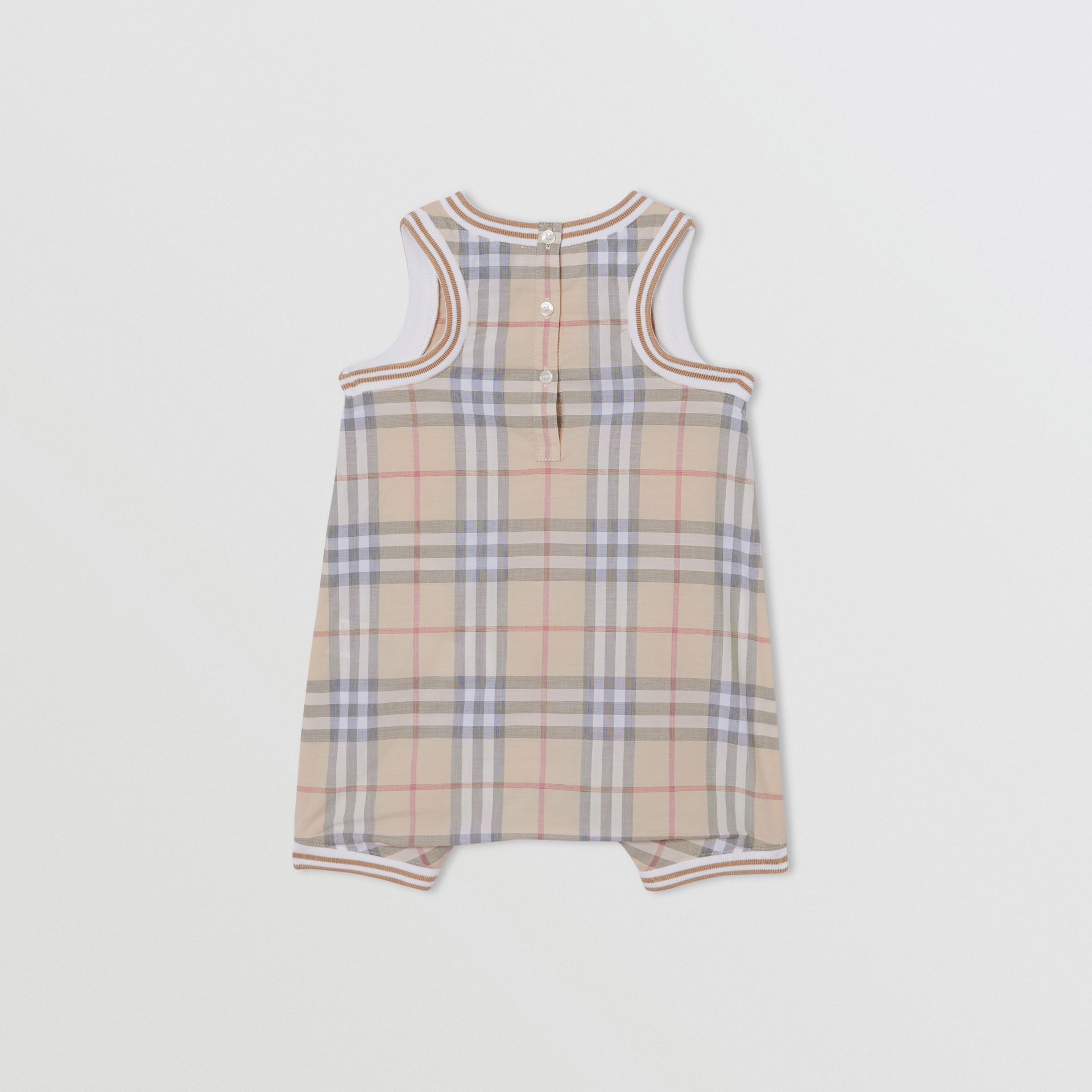Vintage Check Cotton Three-piece Baby Gift Set in Pale Stone - Children | Burberry Hong Kong S.A.R - gallery image 5