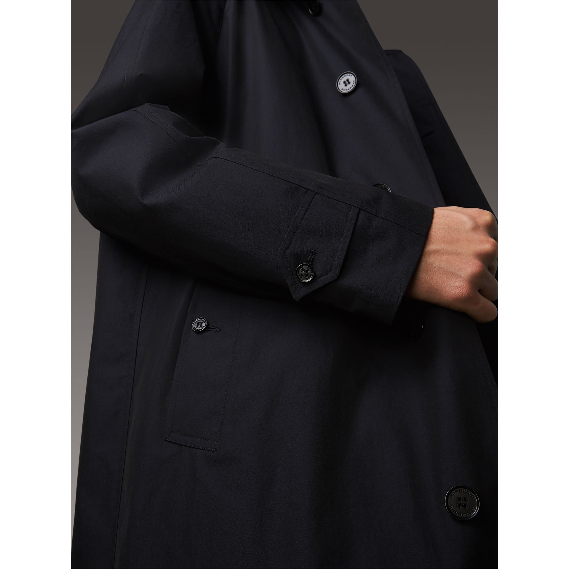 The Brighton Car Coat in Blue Carbon - Men | Burberry Singapore - gallery image 4