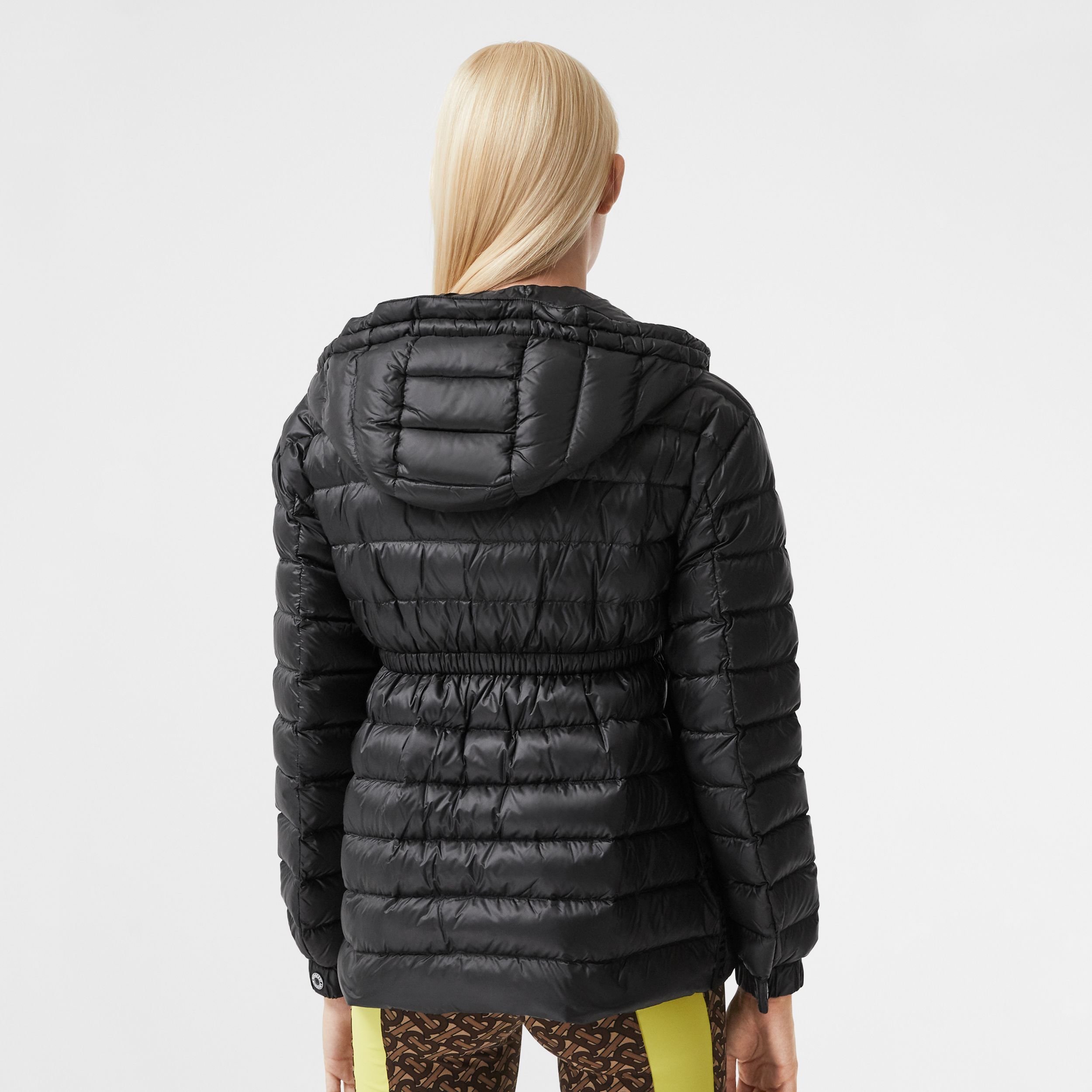 Lightweight Hooded Puffer Jacket in Black - Women | Burberry - 2